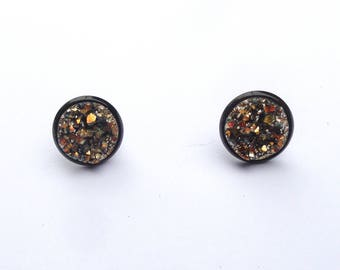 Magical druzy cabochon earrings various colors