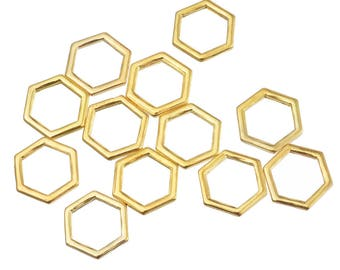 set of 5 connectors, honeycomb bee 10 * 11mm