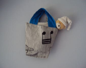 """Small bucket bag """"deco"""" for child's room"""