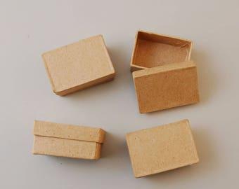 Set of 4 small 6 x 4 x 2.5 cm - Ref 16711/024VAE26RE rectangular boxes (box rectangular)