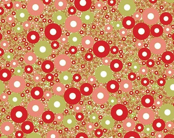 Leaf Decopatch 30 x 40 cm - red and green circles N 584 - Ref FDA584