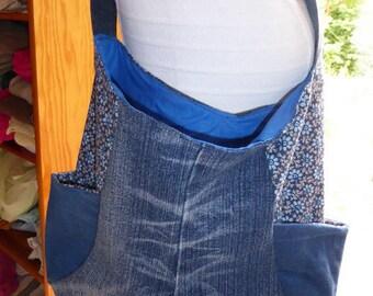 upcycled denim Messenger bag '