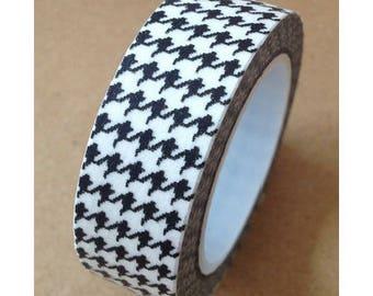Washi tape (washi) - pattern houndstooth retro