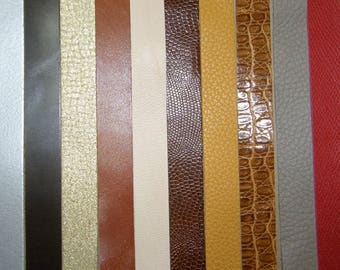 Set of 10 20mm wide leather straps
