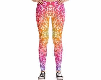 Color Pop Yoga Leggings, Women's Pants for Workouts and Running