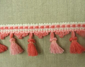 Tassel-6 cm - pink and Red Ribbon