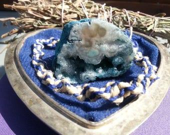 Blue and Classic Spiral Hemp Bracelet