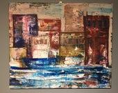 City - acrylic on canvas ...