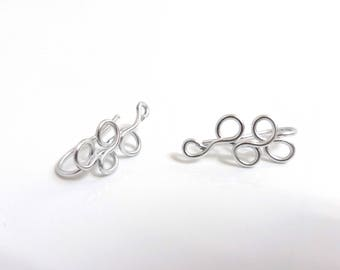 Small spiral pins - ear cuff - handmade aluminium earrings