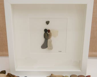 Pebble/Stone Art - 'To Have and to Hold'