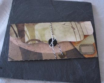 Gift box, Bank, vintage, retro, geometry, kraft tag