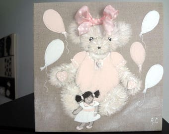 paintings for boy and girl bears