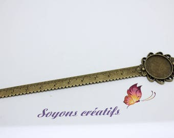 Brand Page rule flower Bronze 20mm cabochon - 138 mm.