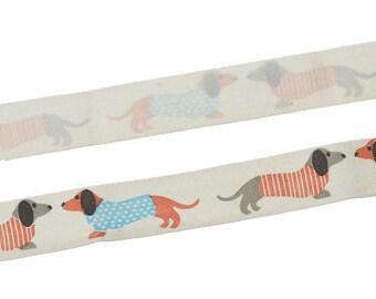 Ribbon pattern cotton dog basset bag of 5 meters