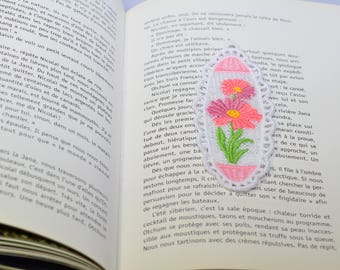 lace flower Daisy brand in page bookmark lace Daisy flower