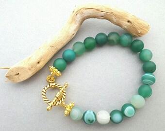Natural beaded bracelet