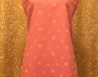 60s pink mod daisy dress