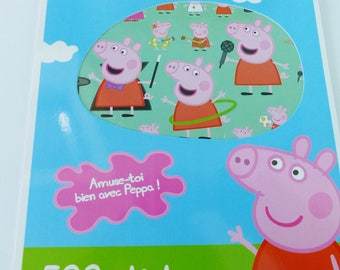 Block of 500 stickers stickers Peppa Pig 10 A4 format boards stickers