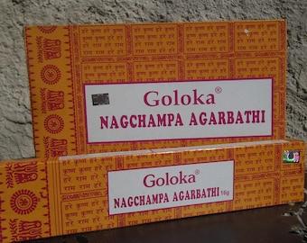 Box of 16 gr Nag Champa Agarbatti Goloka incense sticks