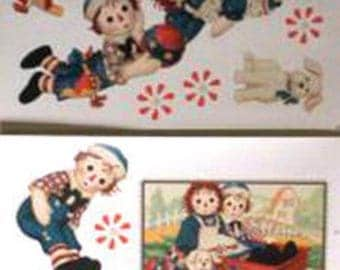 WALL DECALS GIRL * RAGGEDY ANN * 4 BOARDS