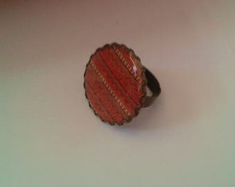 orange ring - bronze - 25 mm - pattern