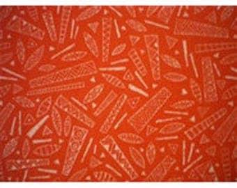 fabric patchwork African patterns ref120692 orange background