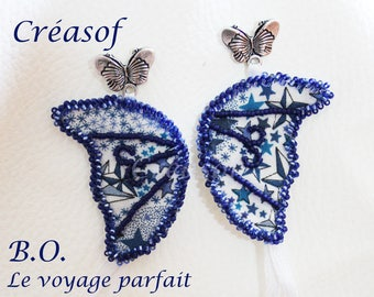 "Liberty ""Le Voyage Parfait"" beaded earrings"