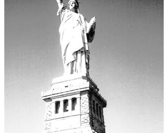 The Statue of Liberty, New York CIty, USA, Black and white Photography