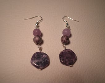 01535 - Earrings tone purple and violet