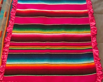 Sarape baby blanket
