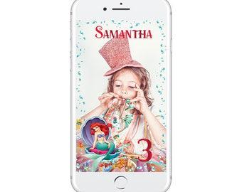 Little Mermaid Snapchat Geofilter, Little Mermaid Geofilter, Little Mermaid Party RUSH