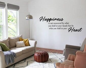 Happiness, Happy decal , wall decor, house decor, Heart