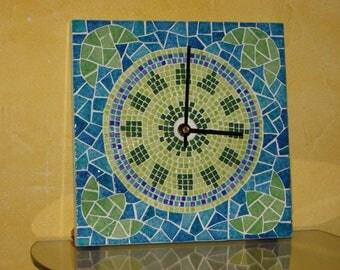 Guatemala mosaic clock