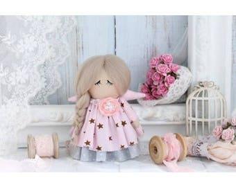 Decor doll, Angel LJUSI, tilda boho doll, doll, tilda textile, textile doll, handmade doll, handmade doll
