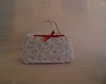 fabric quilted baby vanity