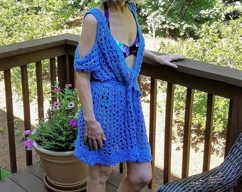 Cobolt Blue, Cold Shoulder, Swimsuit Coverup