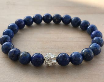 Lapis Lazuli Bracelet,Wisdom bracelet,Yoga bracelet,boho bracelet,spiritual bracelet,chic bracelet,boho jewelry,yoga jewelry,
