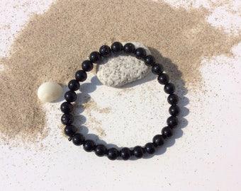 Tourmaline bracelet black stone of protection