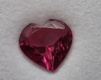 Heart shaped pink tourmaline