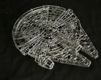 Star Wars Millennium Falcon, Millennium Falcon, wire sculpture