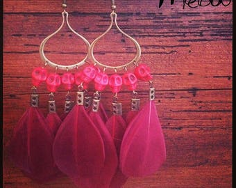"""Red Calavera"" inspired Bohemian earring"