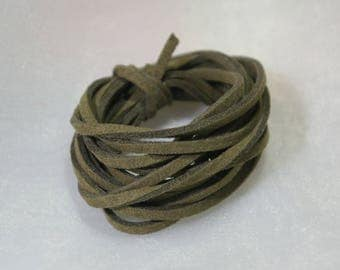 2 m cable flat suede khaki