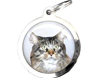 Dog Medal MAINE COON cat - chrome