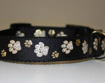 """NEW!Dog Collar """"Paws of all the colours"""" Style, Pet Accessories, Design"""