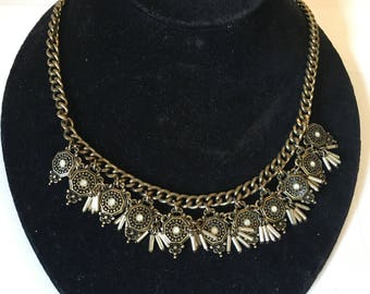 Golden Dreamcatcher Necklace 19509