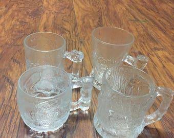 Vintage 1993 McDonalds Limited Edition Flintstone Glassware