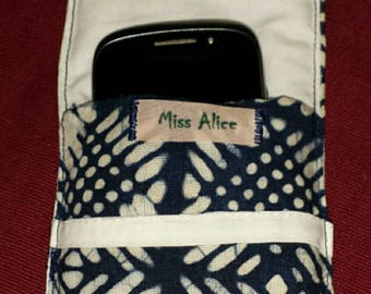 Padded blue and white phone case