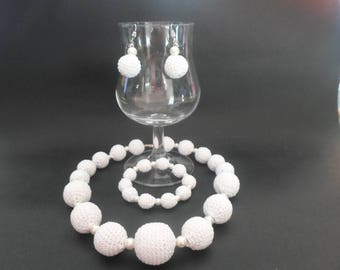 necklace, bracelet and Earring jewelry set earrings
