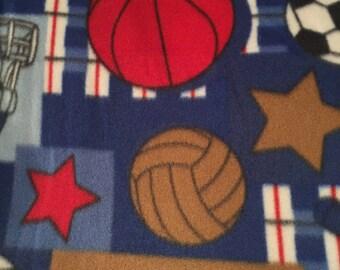 Sports Fleece Tie Blanket