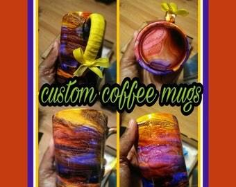 Swirl Coffee Mugs